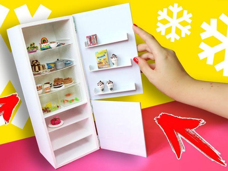 Как сделать холодильник для куклы