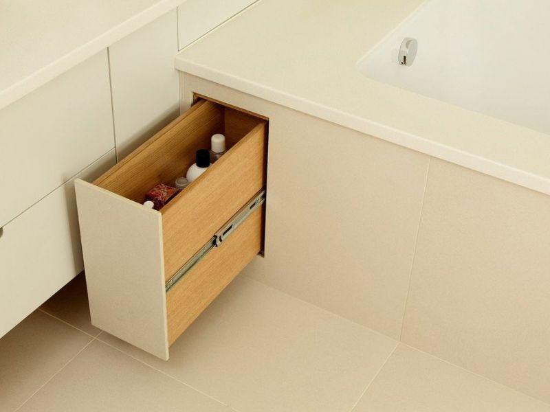 Ящики для хранения в ванной: налаженные системы