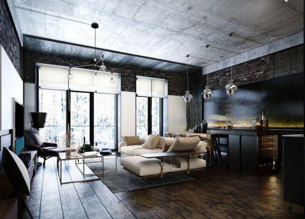 дизайн холостяцкой квартиры
