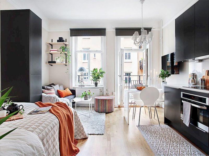 Кухня-спальня: удачные примеры дизайна на фото