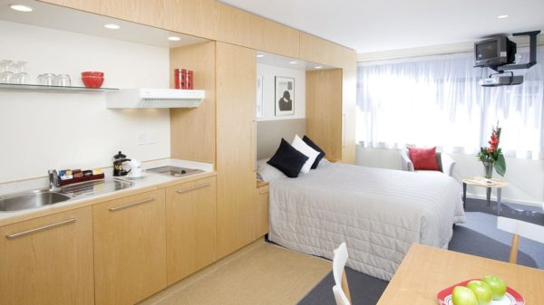 Спальня и кухня в одном помещении