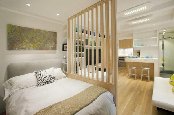 Дизайн кухни-спальни
