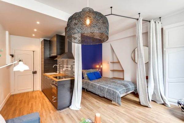 Освещение спальни-кухни