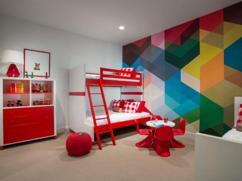 Акцент на одной стене в детской: стильное решение интерьера