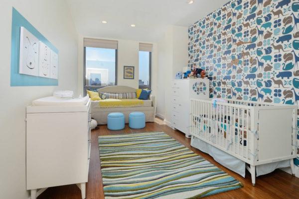 Оформление стен в детской комнате