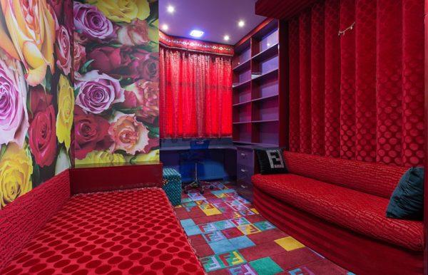 Дизайн интерьера в красных и малиновых тонах