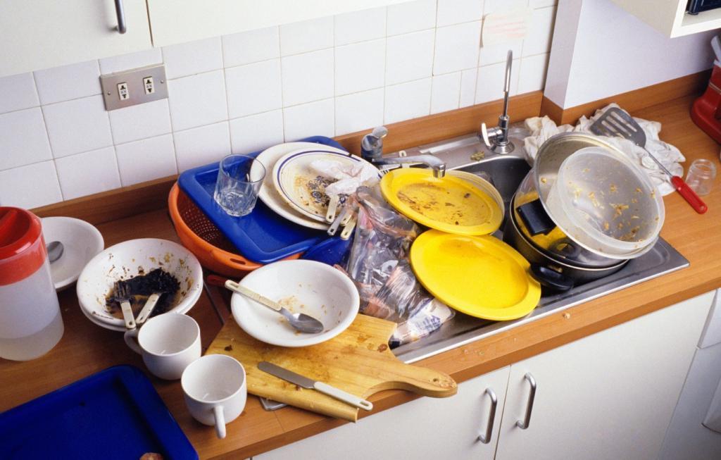 Открытки не мытая посуда