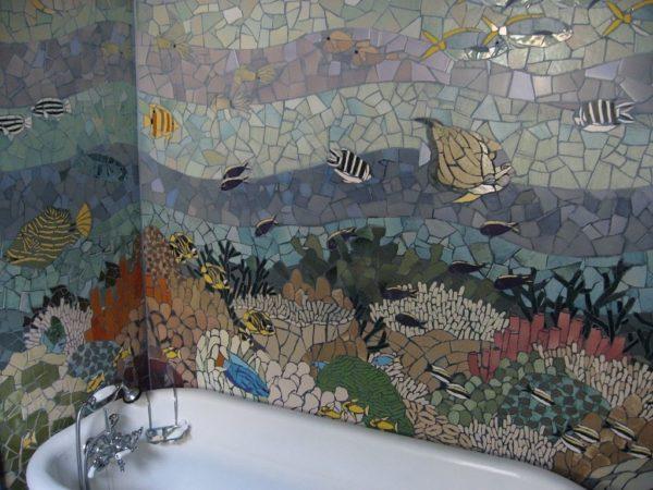 Морская тема мозаики
