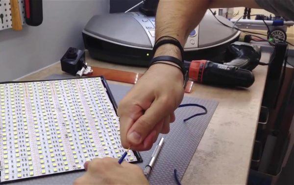 Изготовление светодиодной панели