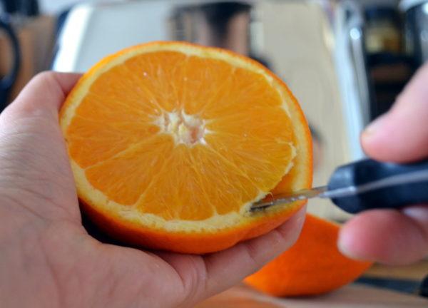 Апельсин на срезе
