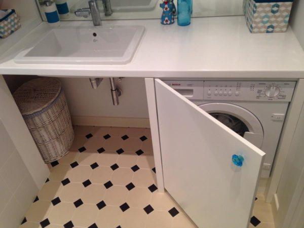 Как спрятать стиральную машину во встроенном шкафу