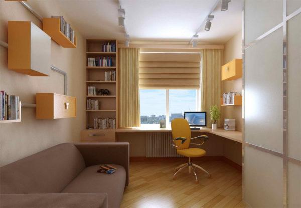 Минималистичное оформление комнаты для подростка