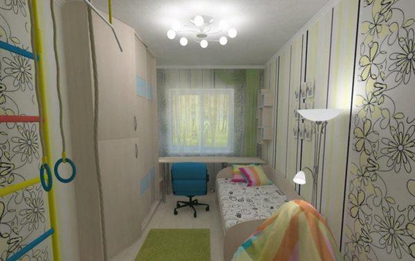Рабочая и спальная зоны