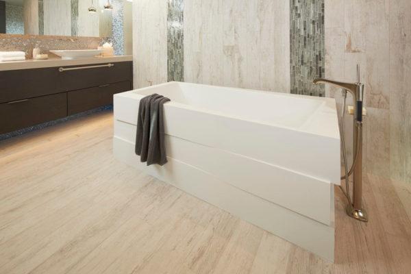 Керамогранит в отделке ванной
