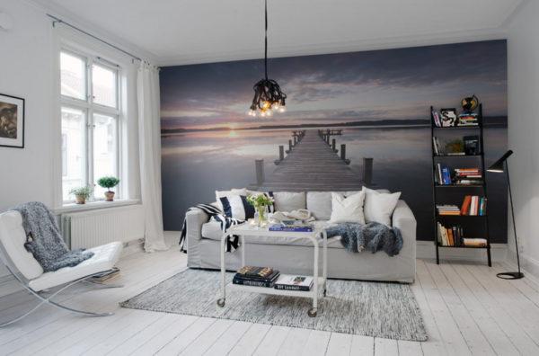 Фотообои, увеличивающие пространство комнаты