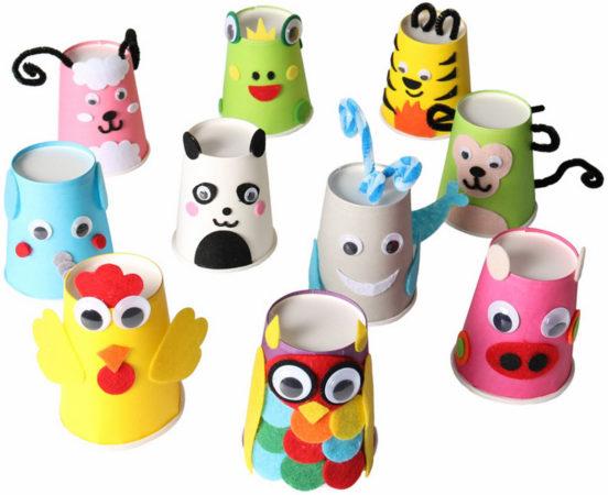 Животные из бумажных стаканчиков
