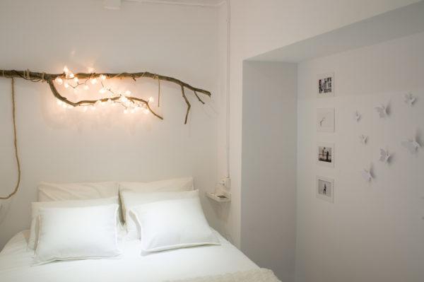 Элементы декора спальни из веток