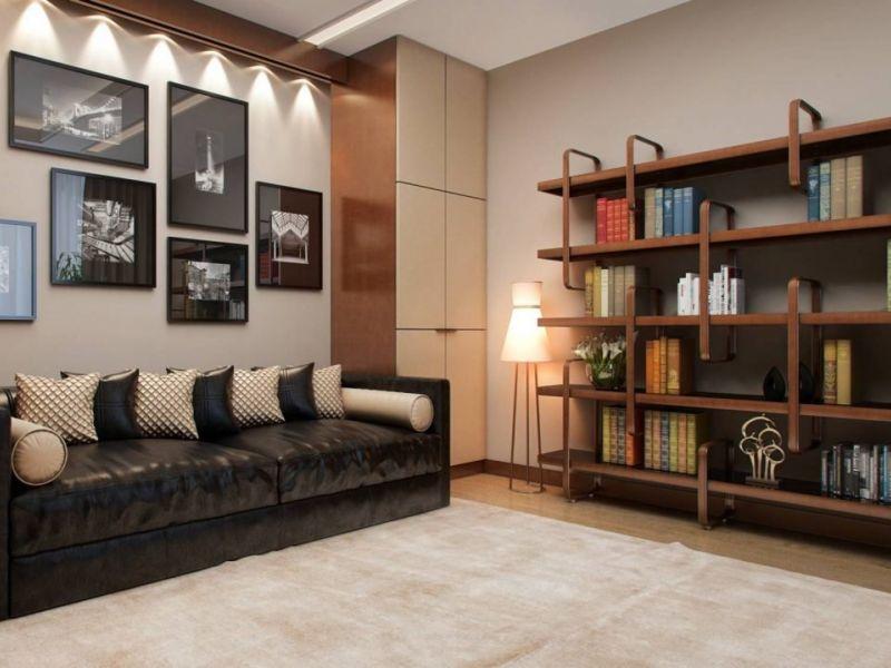 Открытый стеллаж в интерьере гостиной: сочетание практичности и красоты