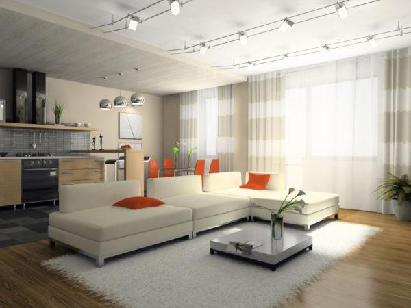 Оформление комнаты с низким потолком