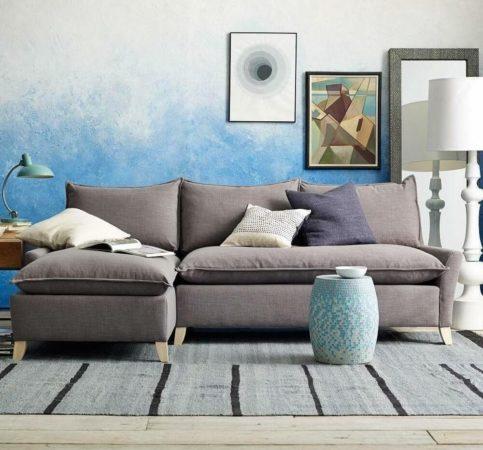 Покраска стен с эффектом омбре