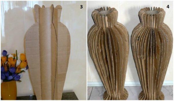 напольная ваза из картона своими руками