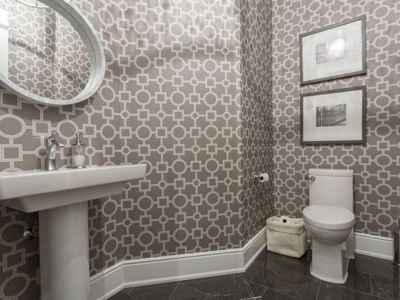 Обои для отделки туалета: подборка фото