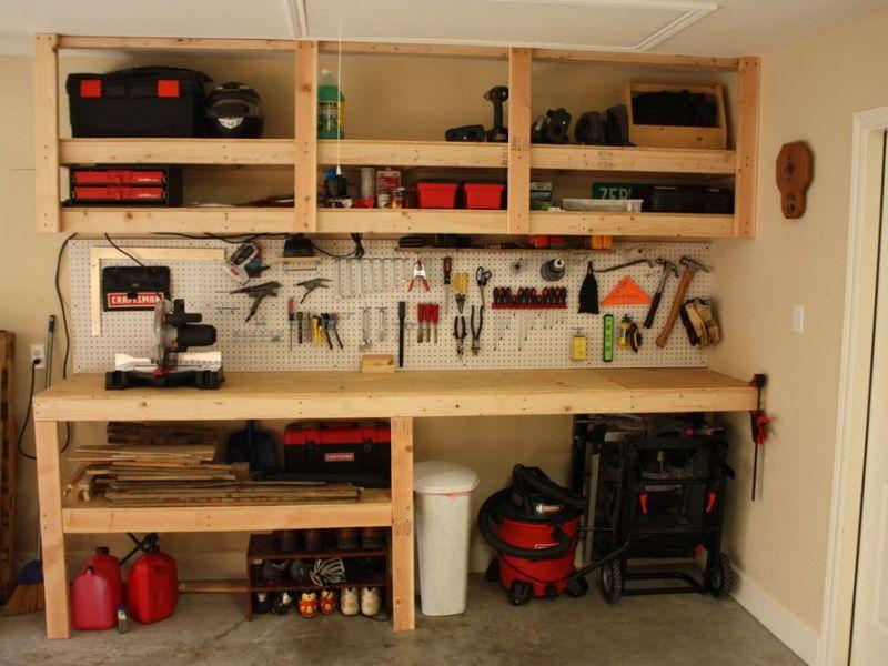 Деревянные полки в гараж: идеи для хранения