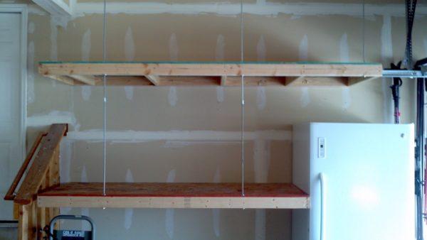 деревянные полки в гараж