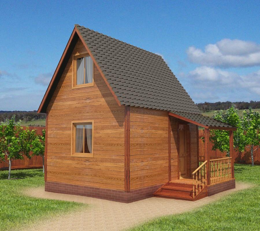 Картинки простых дачных домов