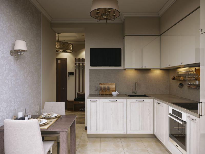 Где повесить телевизор на небольшой кухне