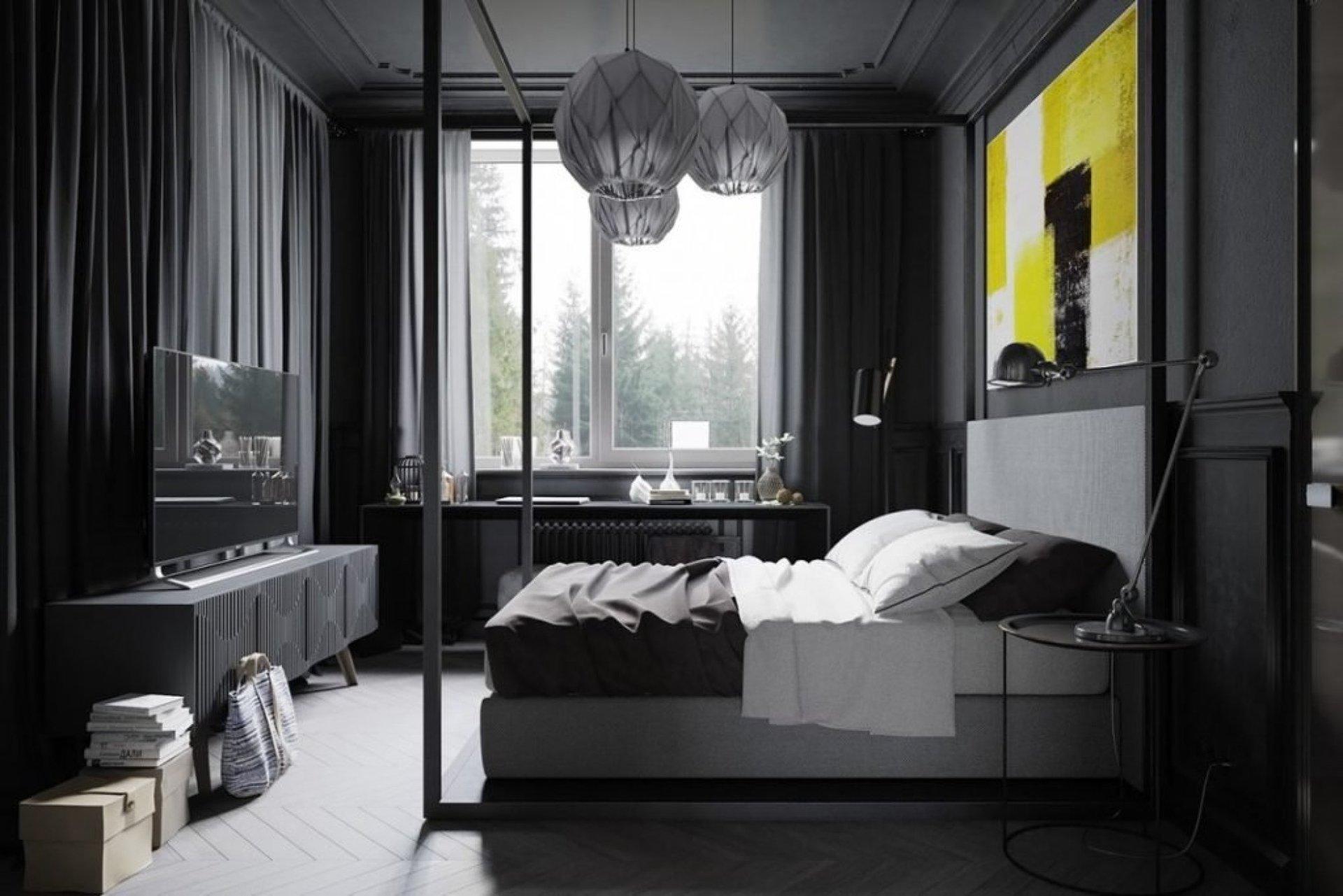 любит картинки комнат в черном цвете следует обжарить
