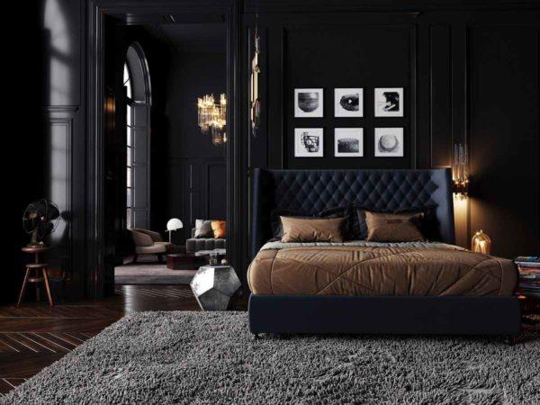 красивые черные комнаты