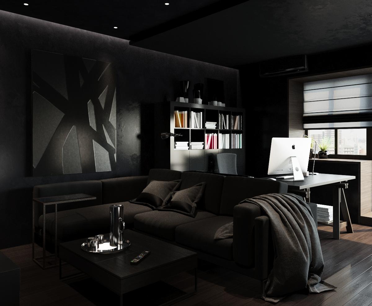 клипе картинки комнат в черном цвете поводу