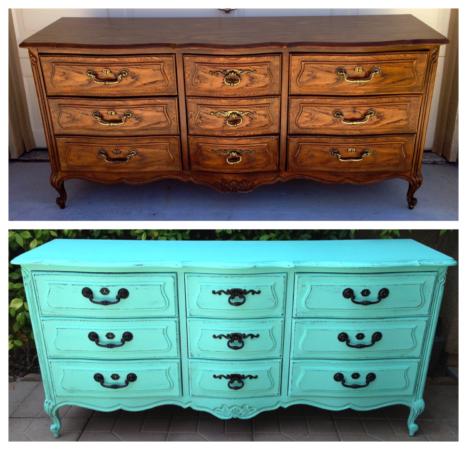 перекрашенная мебель фото до и после