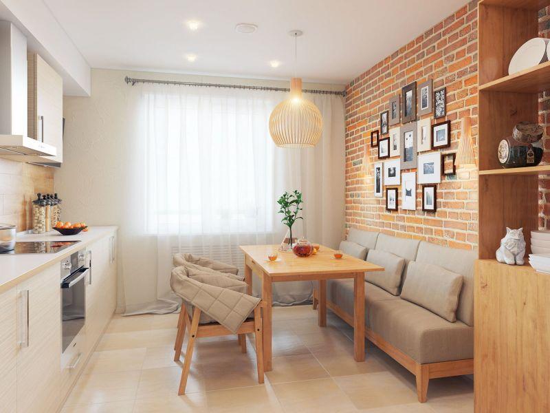 15 идей дизайна кухни 10 кв. м с диваном