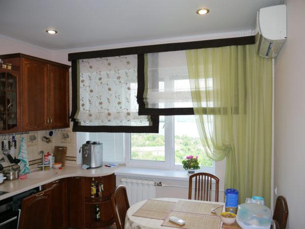 интересные идеи штор для кухни