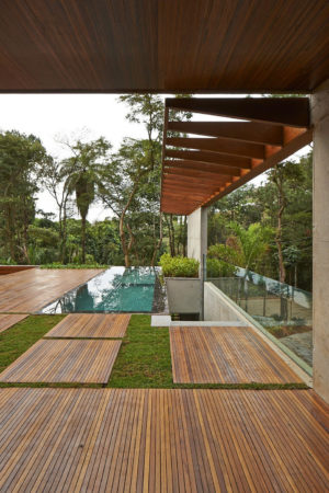 Вид из частного дома в Бразилии