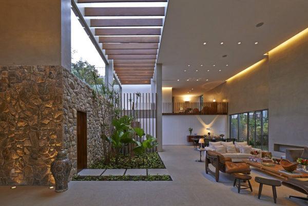 Гостиная частного дома в Бразилии