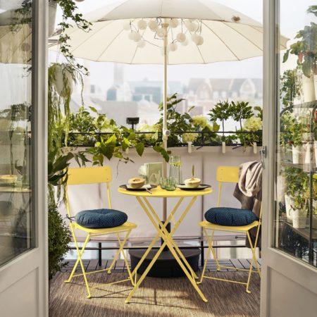 Оформление балкона мебелью из ИКЕА